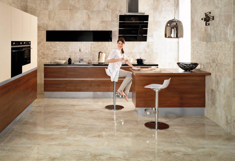 Piastrellare la cucina con il gres porcellanato casa