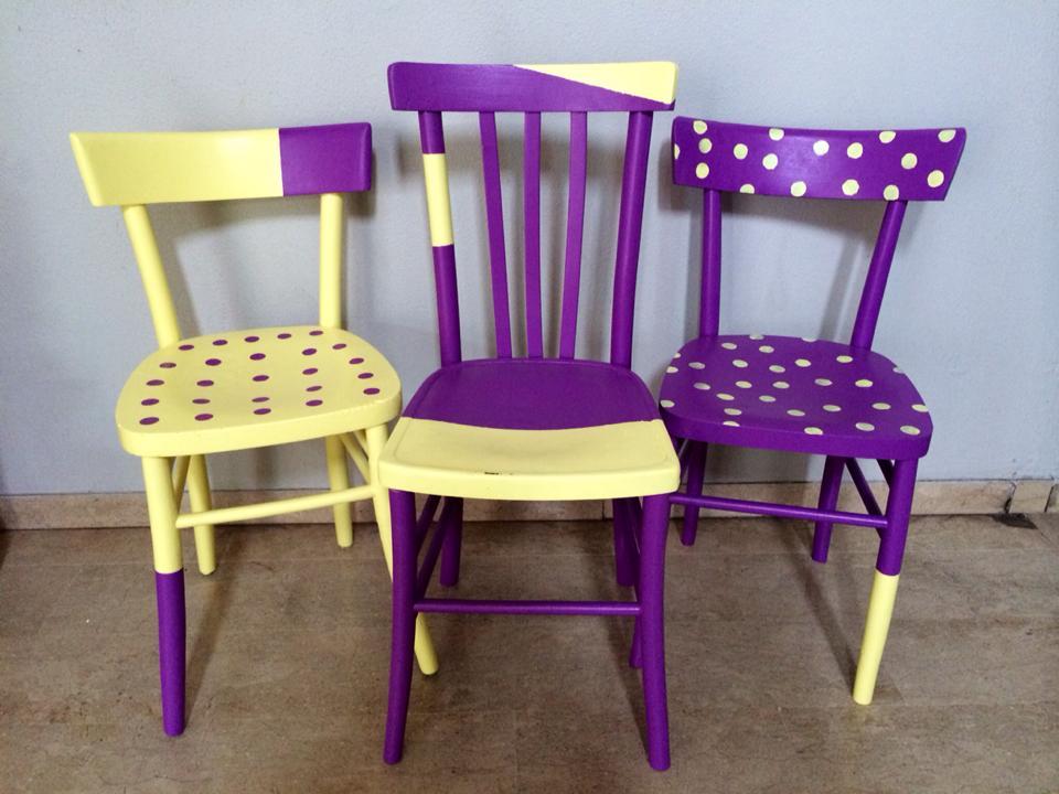 Sedie In Legno Colorate : Fai da te creativo rinnovare le sedie in legno casa
