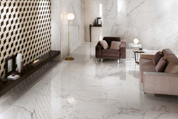 Pavimenti moderni in marmo